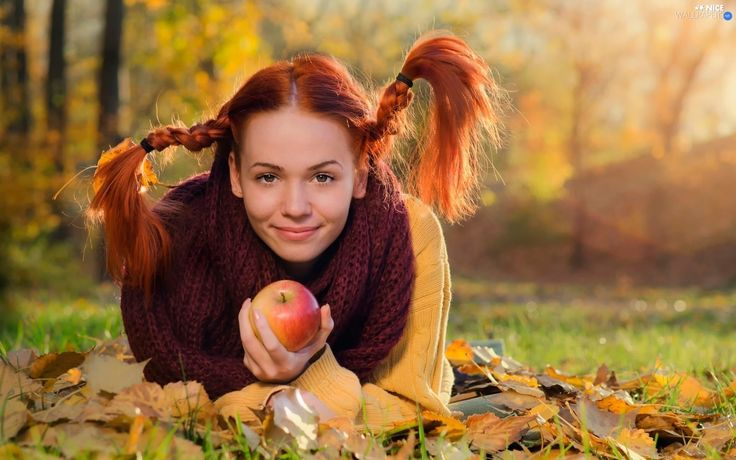 autumn-hair-apple-red-women-leaf-pigtail-head.jpg (1920×1200)