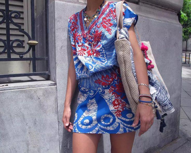 Vestido Rapsodia Seda Bordada India - $ 3.000,00 en Mercado Libre