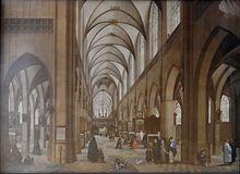 Intérieur de la cathédrale d'Anvers. Hendrik van Steenwijk I