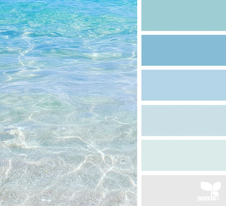 Could be beautiful to base a house color palette off of ocean colors...