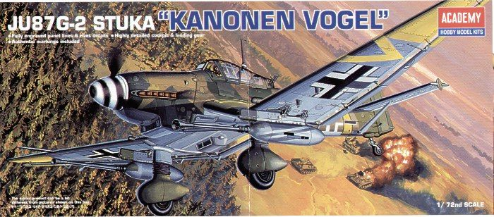 "Junkers Ju-87G-2 Stuka ""Kanonen Vogel"". Academy, 1/72, injection, No.12404. Price: 6,99 GBP."