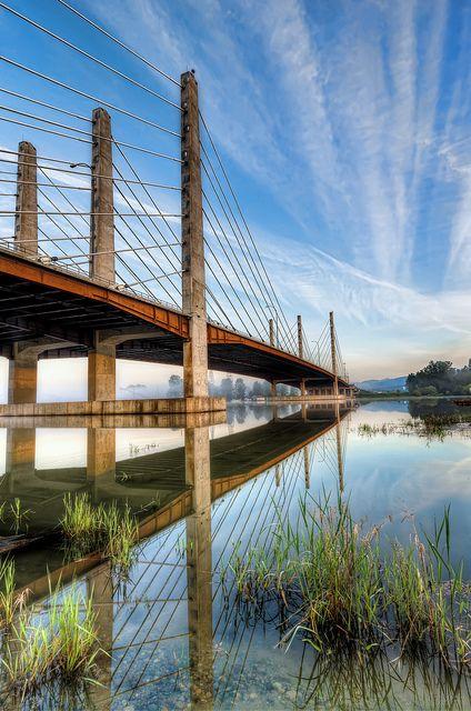 Pitt River Bridge - British Columbia, Canada. Photo by James Wheeler via Flickr.