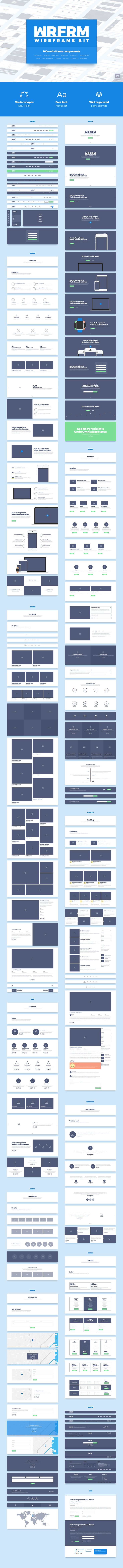 WRFRM – Wireframe Kit for Photoshop.