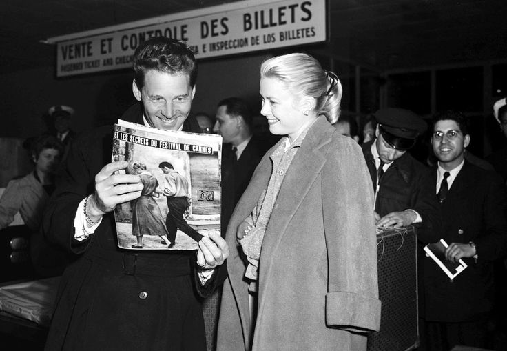 French actor Jean-Pierre Aumont and Grace Kelly, 1955.