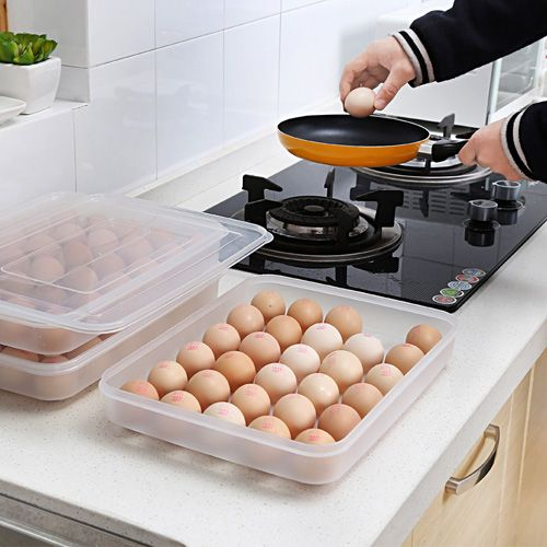 Clear Large Capacity Portable Home Picnic Plastic Egg Box Case 30 Holder Storage…