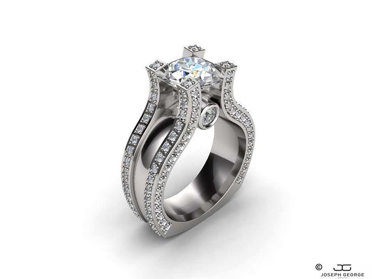 4 modern engagement rings for a fashion-forward fiancée - Joseph George - http://www.josephgeorge.com.au/?p=8823 -