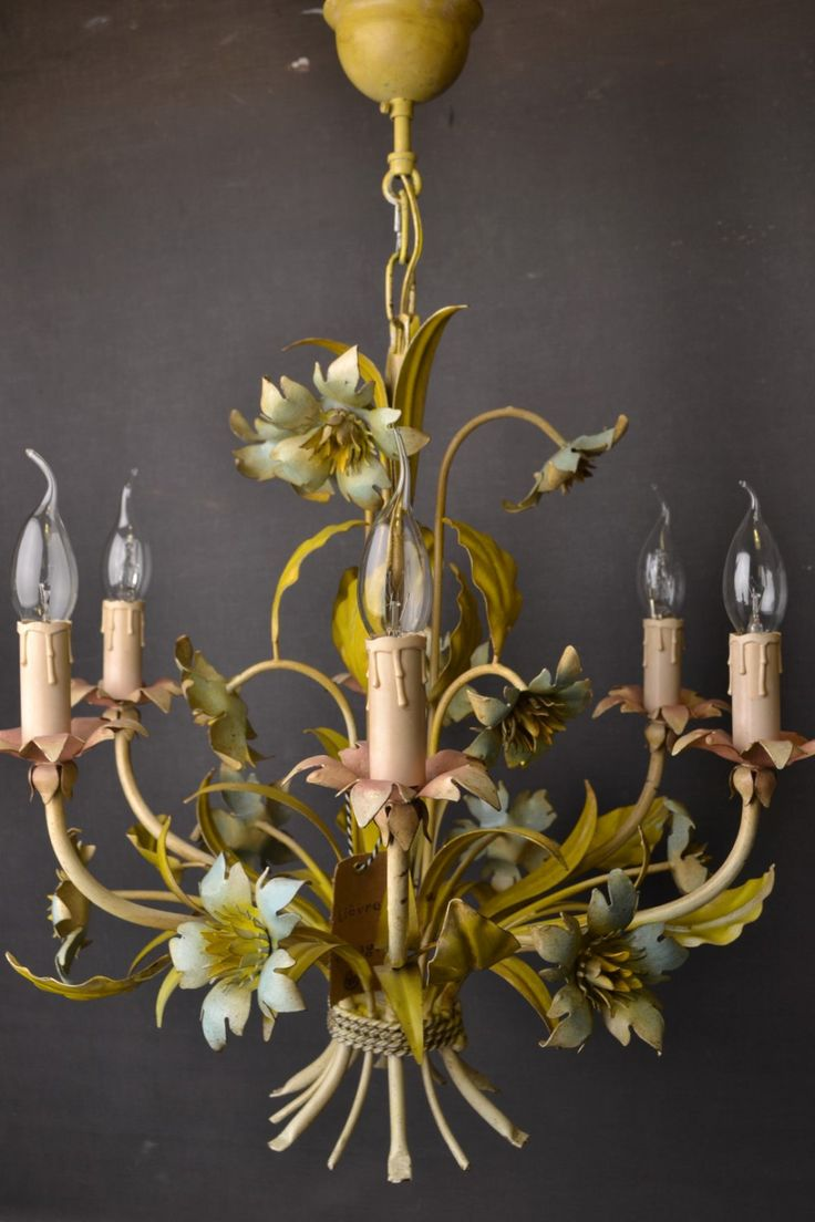 21 best vintage tole flowers chandelier images on pinterest shabby flower chandelier chandelier lamps chandeliers bulbs ceilings wrought iron sconces mirrors apartments arubaitofo Image collections