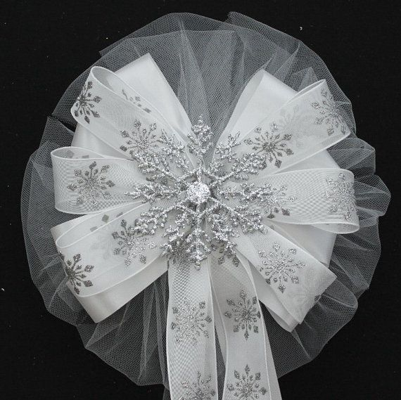 Hey, I found this really awesome Etsy listing at https://www.etsy.com/listing/175862288/silver-glitter-snowflake-ribbon-wedding