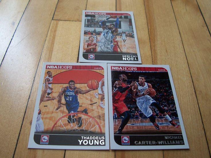 MICHAEL CARTER-WILLIAMS THADDEUS YOUNG NERLENS NOEL 2014-15 Hoops 76ers Card Lot
