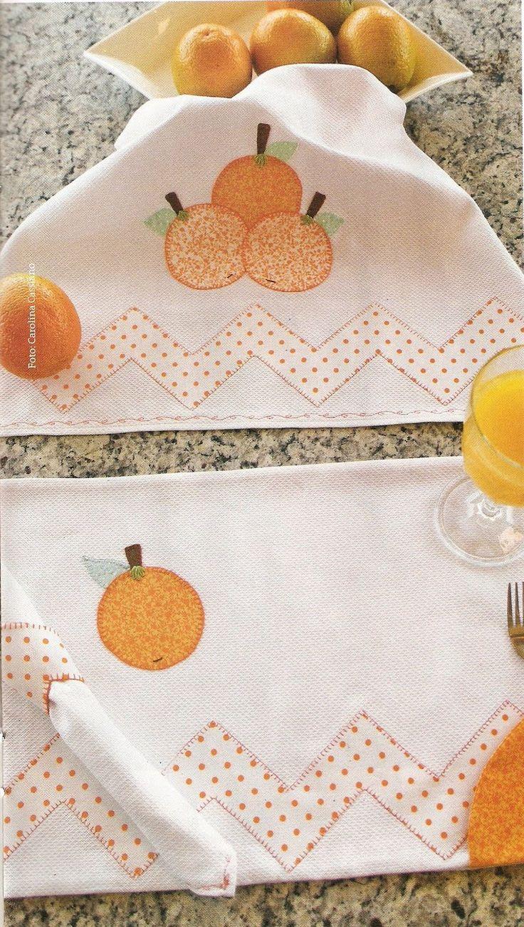 pano de prato laranja