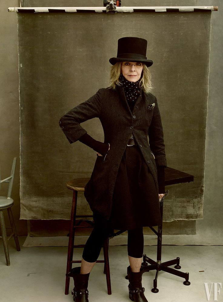 Diane Keaton–45 films, 1 Oscar, 1 BAFTA. Photograph by Annie Leibovitz.