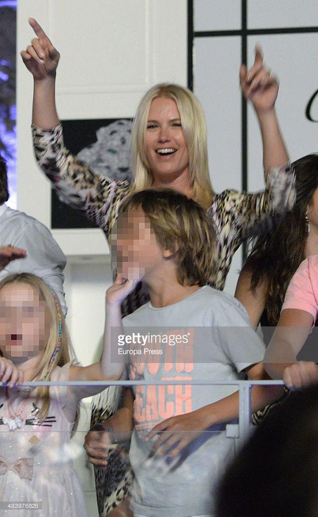 . Valeria Mazza is seen attending Enrique Iglesias concert on August 13, 2015 in Marbella, Spain.