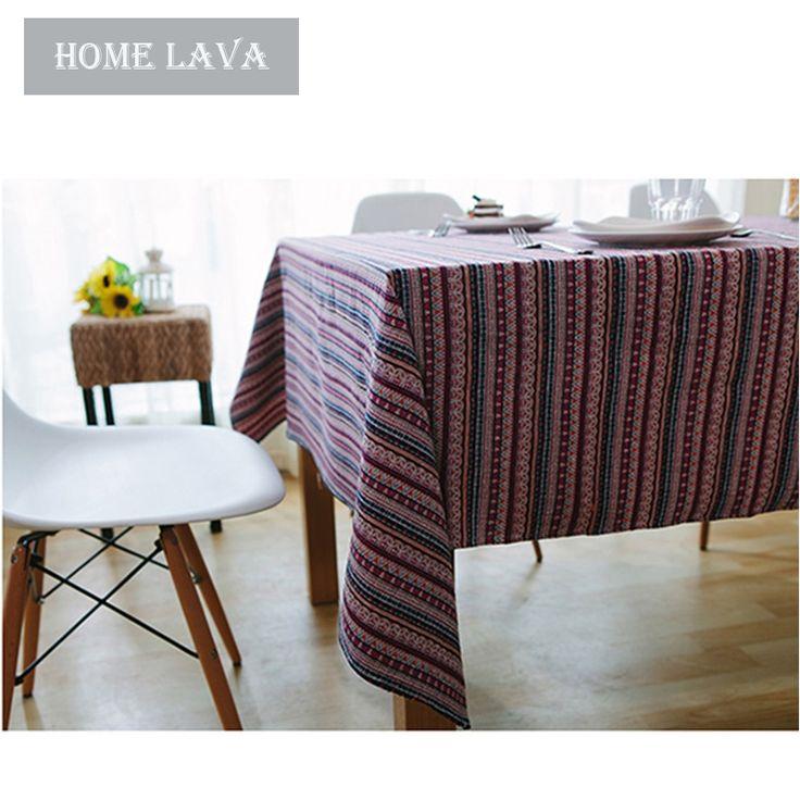 Maison Textile - Cuisine & Linge de table - Nappes - (Entrepôt UE) Cru pastoral du Sud-vent repas auberge nappe de Table basse rectangulaire recouverte tissu de coton de fils teints