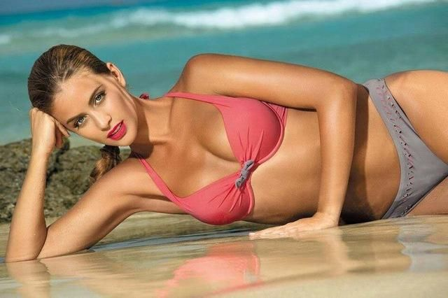 TQSKK Bohemian New Bikini Push Up Swimwear Women Swimsuit Retro Vintage Beachwear Bathing Suits Bikini Set Plus Size Swimwear
