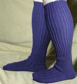 """This pattern is designed for a man (or woman!) with a larger calf muscle in their legs. If you are knitting this for a leg larger than 17"""" d..."""