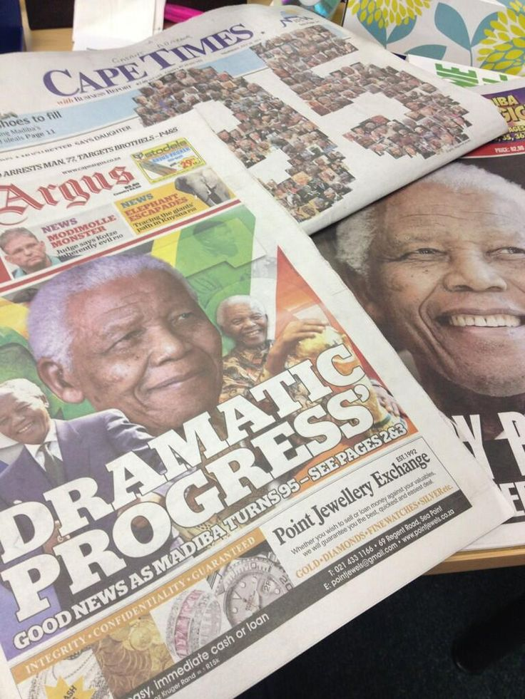 Happy Birthday Tata! My morning papers full of love for #Madiba today. | Twitter/GasantAbarder