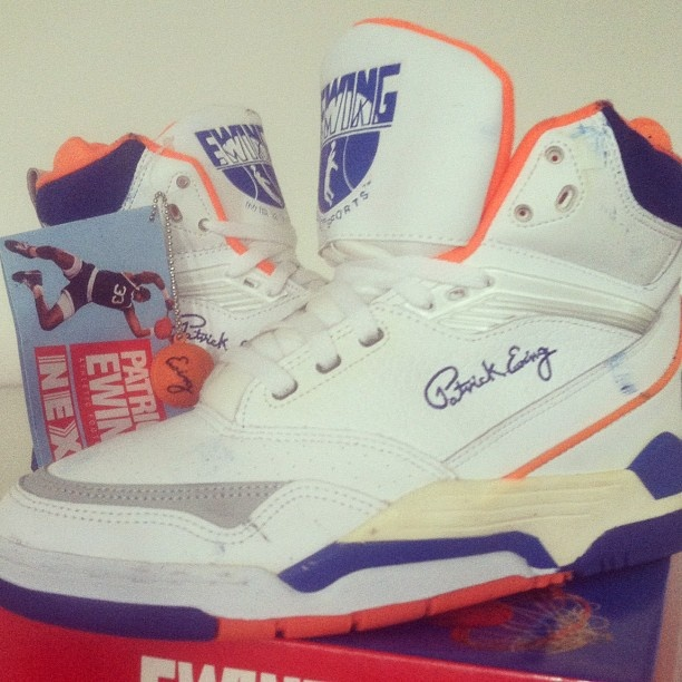 1991 OG Vintage #Ewing Center HI. Worn in 91 All Star Game - @ewingathletics- #webstagram
