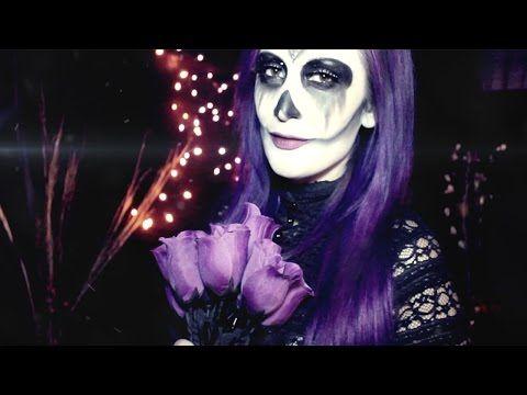 Halloween skull makeup / maquillaje de calabera - YouTube