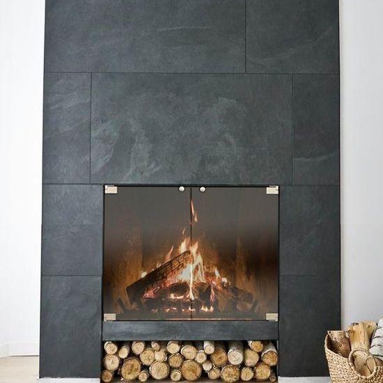 Vanguard Thinline Masonry Fireplace Door In Matte Black In 2020 Fireplace Doors Fireplace Glass Doors Modern Fireplace