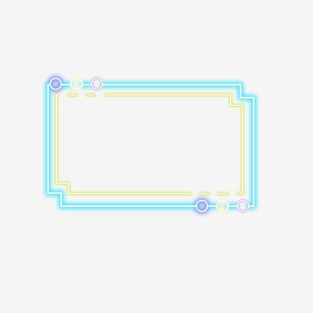 Simple Color Light Effect Neon Border Simple Color Light Effect Png Transparent Clipart Image And Psd File For Free Download Frame Border Design Simple Colors Neon