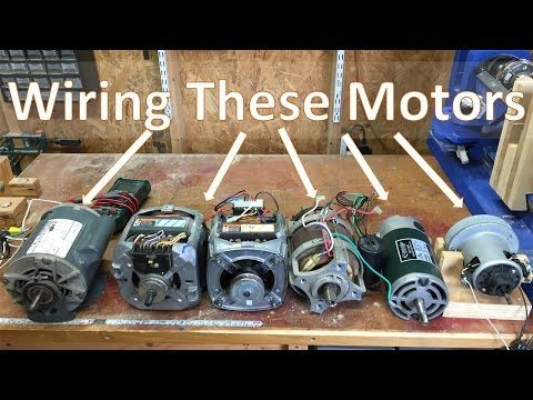 11. How To Wire Most Motors To Build Shop Tools, Blower motor, Washing machine, and DC to name a few - YouTube