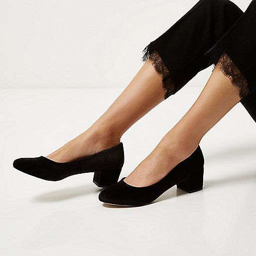 Black velvet ballerina shoes - shoes - shoes / boots - women