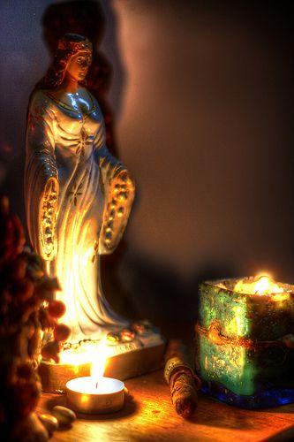 Invocation and Prayer ☽ Navigating the Mystery ☽ Yemaya shrine