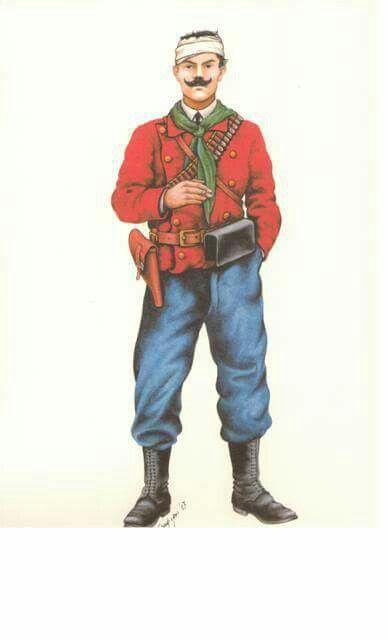 Volontario italiano della 'Colonna Mereu' Domokos - Grecia - 17 Maggio 1897