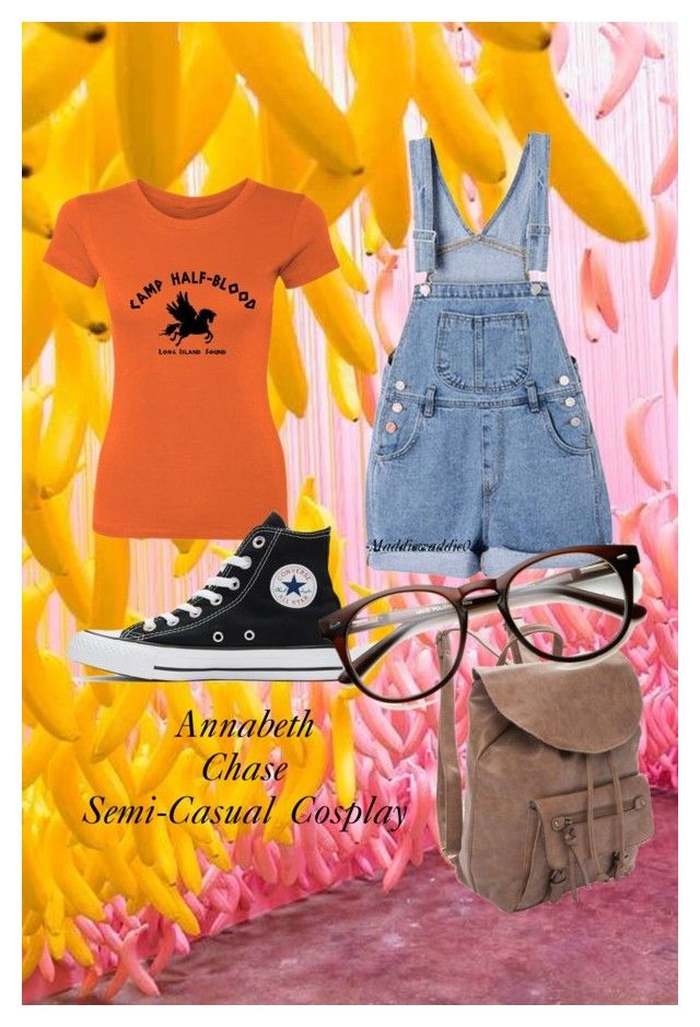 """Annabeth Chase Semi Casual Cosplay"" by maddiewaddie02 ❤ liked on Polyvore featuring True Craft and Converse"