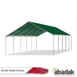 Shade Canopy 28' x 30' - 1.75 Inch Pipe Diameter  Our 28x30 Shade Canopy is one of our sturdiest canopies. On acts of erosion for both the frame and the top shade, these 28x30 Shade Canopies are covered by a 5-year warranty.
