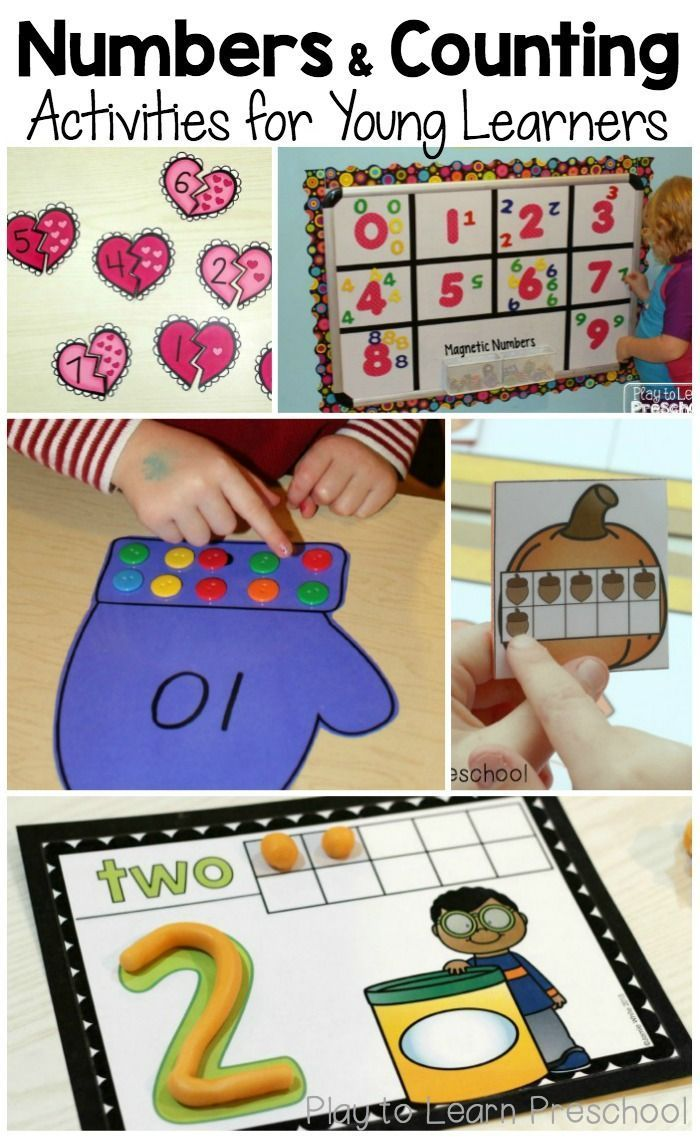 Check out these colorful and creative number activities for preschoolers! Perfect for home or the classroom!