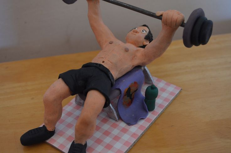 weightlifting cake topper done for a gym fanatic's birthday.