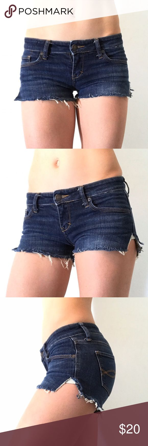 Abercrombie distressed denim cutoff jean shorts 24 Abercrombie shorts Abercrombie & Fitch Shorts Jean Shorts