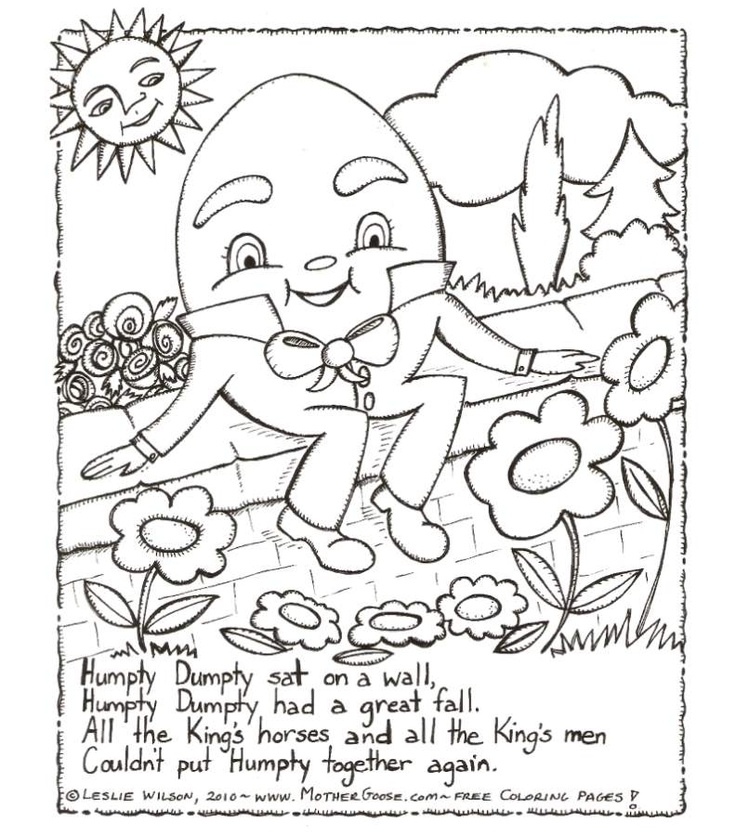 Humpty dumpty free coloring pages for Humpty dumpty coloring pages
