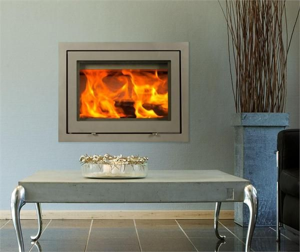 99 best cozy fireplaces images on pinterest fire places for Contemporary wood burning fireplace inserts