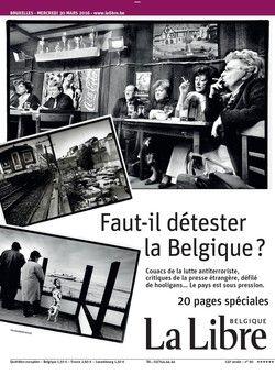 """La Belgique, le pays où rien n'est clair. Ratés de la lutte antiterroriste, critiques impitoyables de la presse étrangère, défilé de hooligans devant le mémorial aux victimes des attentats… La Belgique est-elle devenue haïssable ? """"La Libre"""" se livre à une méditation sur l'identité du pays, nourrie par de multiples allers-retours à travers l'Histoire"""