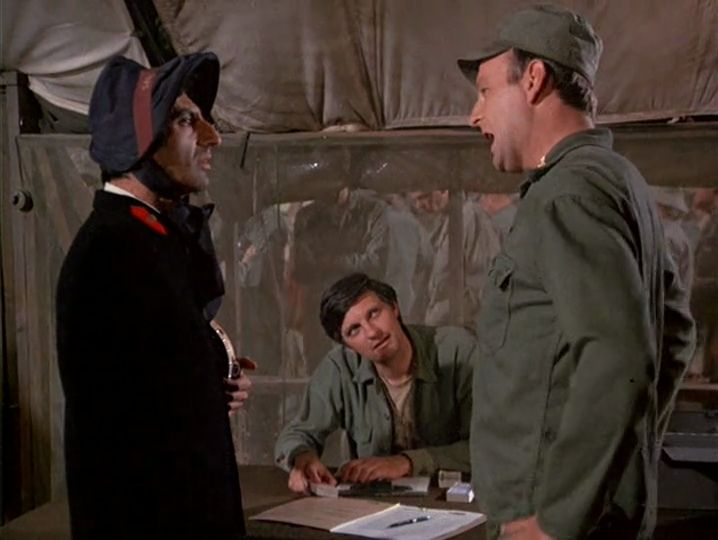 M*A*S*H: Season 3, Episode 22 Payday (4 Mar. 1975) Jamie Farr , Corporal Maxwell Q. Klinger, mash, 4077, Major Frank Burns, Larry Linville,
