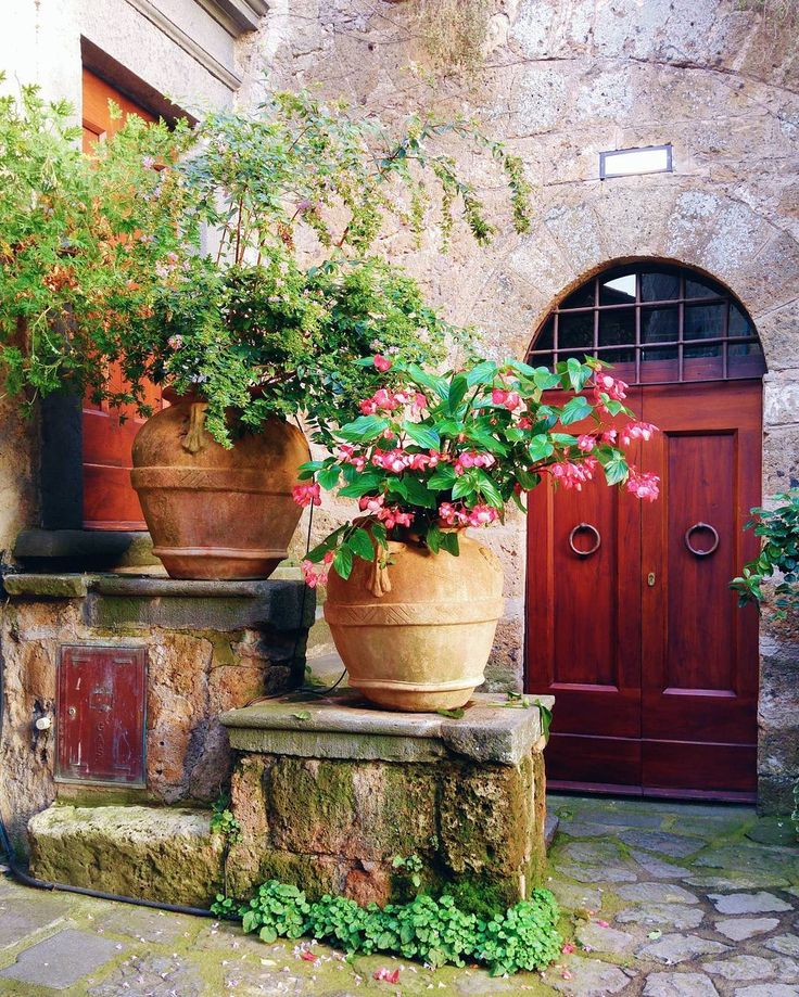 When you have flowers happiness is around  . . . Do you have flowers at home? . . . #civitadibagnoregio #civita  #bagnoregio #plants #flowers #flower #italia #italy #door #facade #travel #architecture #fiori #sweet #relax #paradise #yallersitalia #whatitalyis #volgoitalia #ig_italia #igersitalia #click_italy #igerslazio #italian_places #sunset #sun #beautifuldestinations #city #nature #love