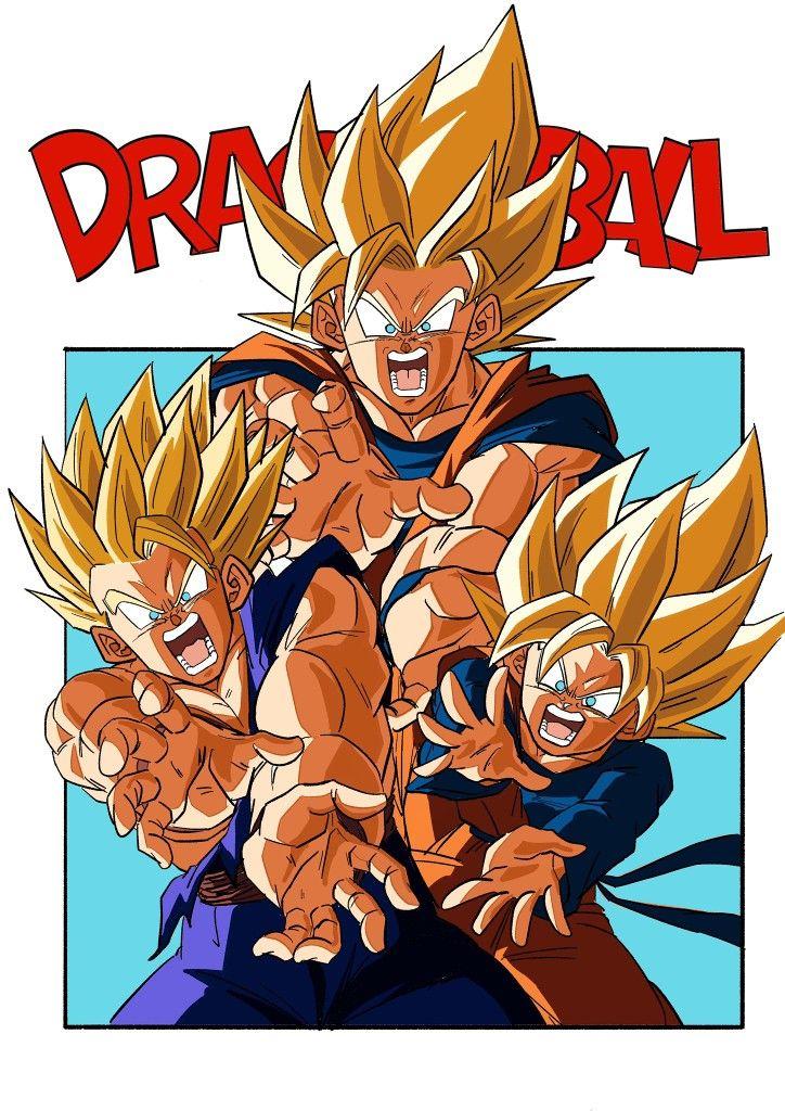 Family Kamehameha Anime Dragon Ball Super Dragon Ball Painting Dragon Ball Super Manga