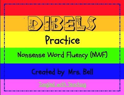 DIBELS First Grade Reading Nonsense Word Fluency Practice