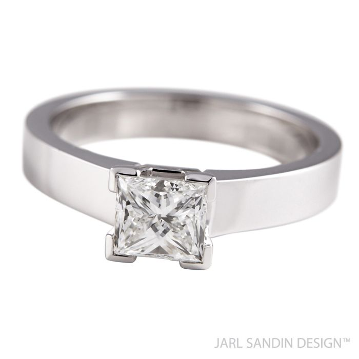 Jarl Sandin Design Dream diamantring princesslipning vigselring