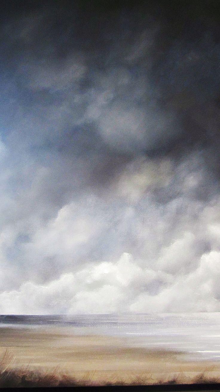 Lowering skies- acrylic on canvas - Caroline Lingwood