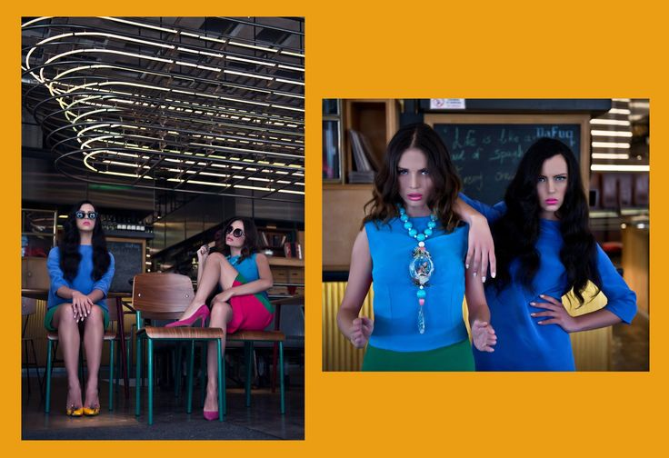 """The Stepford Wives"" Designer: Vassilis Zoulias Jewellery by Pericles Kondylatos  Photos by Apostolis Anastasopoulos  Styling by Nikolaidi Filitsa Make-up & Hair by Ioannis Giannis Michalelis Models: Clair Doreen Tsournos & Elektra Chv (VN models)"