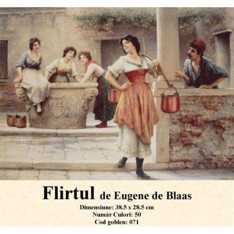 Model set goblen Flirtul de Eugene de Blaas http://set-goblen.ro/portrete/3721-flirtul-de-eugene-de-blaas.html