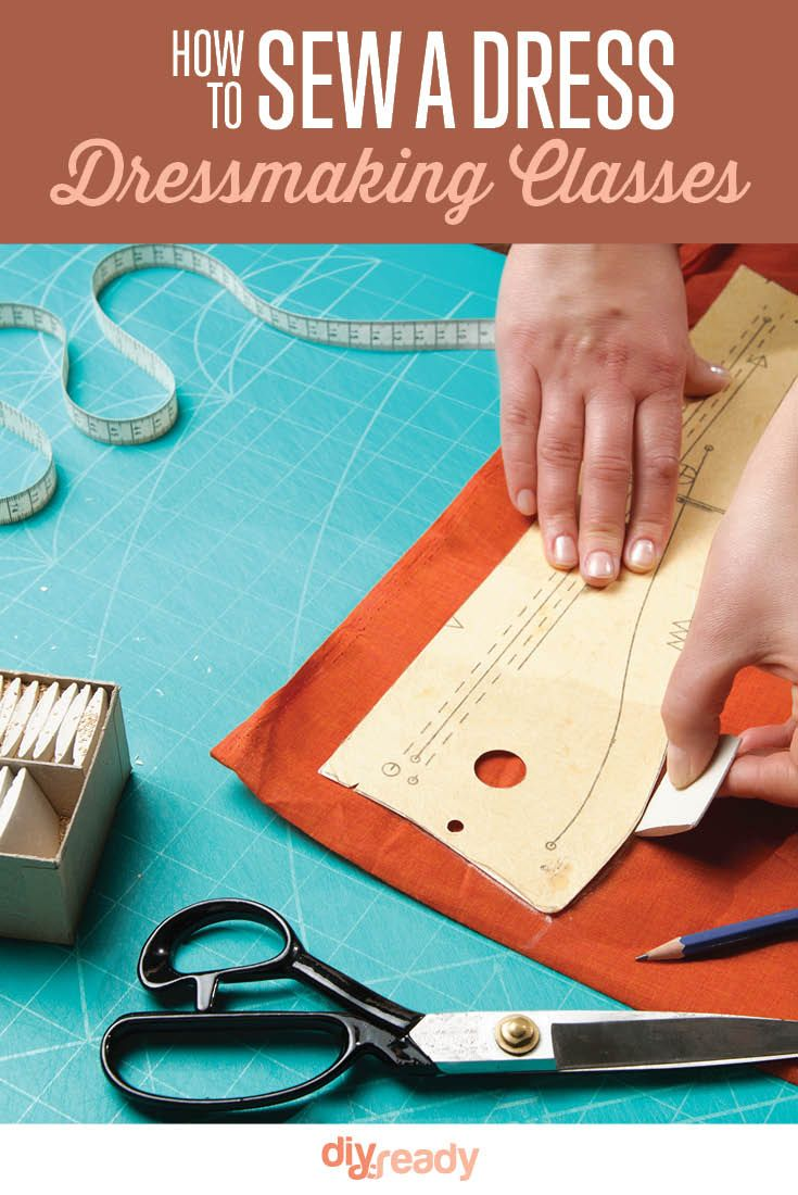 How To Make a Dress - Dressmaking Classes | Get Started Sewing with our Dressmaking Classes on DiyReady at http://diyready.com/how-to-make-a-dress-dressmaking-classes