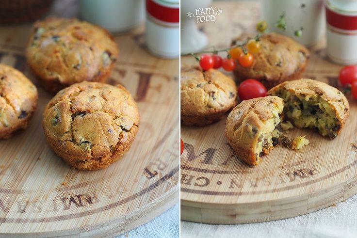 Закусочные мини кексы с грибами - HAPPYFOOD