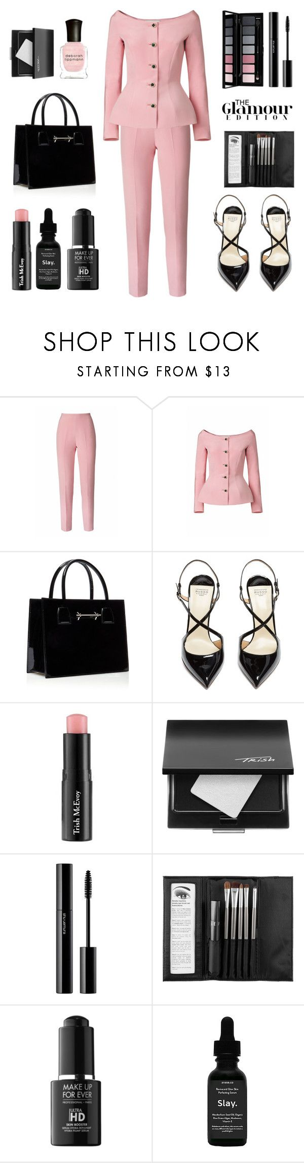 """""""Untitled #683"""" by tenindvr ❤ liked on Polyvore featuring Esme Vie, M2Malletier, Francesco Russo, Trish McEvoy, shu uemura, Sephora Collection, MAKE UP FOR EVER, Anese and Deborah Lippmann"""