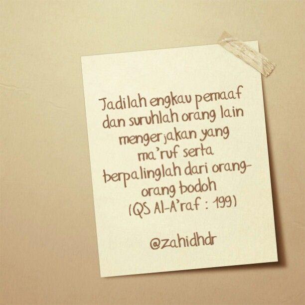 Jadilah pemaaf