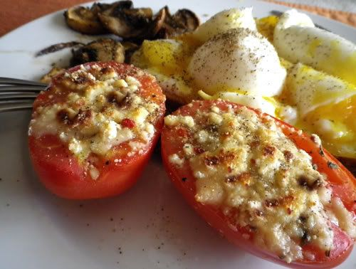 Baked Parmesan Tomatoes | Eating Healthier | Pinterest