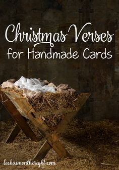 Christmas Verses for Handmade Cards